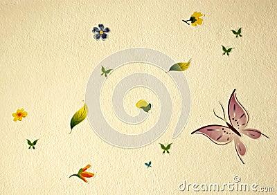Flower and buterflies