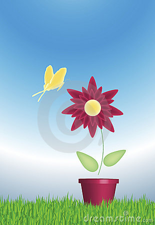 Flower and Butterfly 2