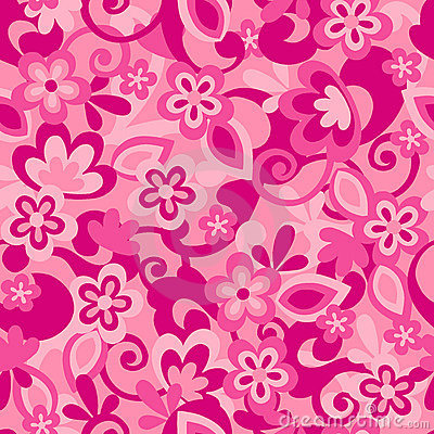 Flower Camo Seamless Repeat Pattern