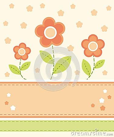Flower card design