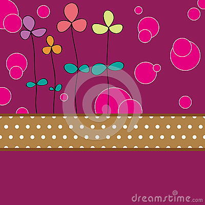 Flower card pattern design