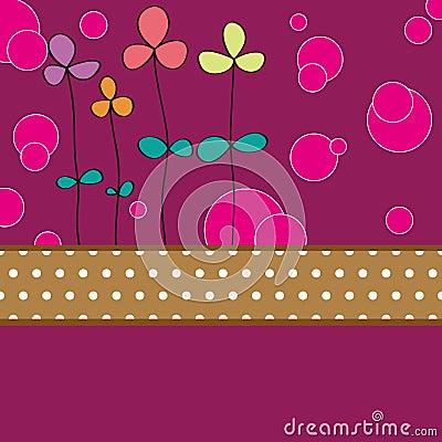 Flower card pattern design