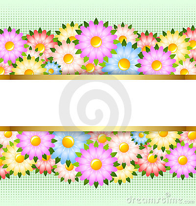 Free Flower Card Template Stock Photography - 22822762