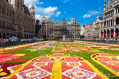 Flower Carpet 2010, Brussels. Editorial Photography