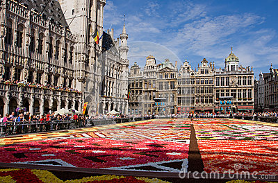Flower carpet in Brussels Editorial Photo