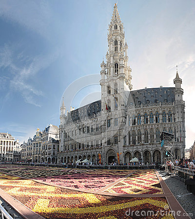 Flower carpet in Brussels, Belgium Editorial Photo