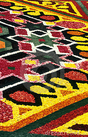 Flower carpet detail