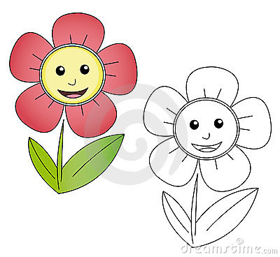 Flower Cartoon Royalty Free Stock
