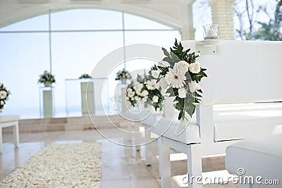 Flower in church