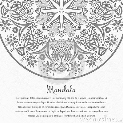 Free Flower Circular Background. A Stylized Drawing. Mandala. Stylized Lace Ornament. Indian Floral Ornament. Royalty Free Stock Photos - 80000678
