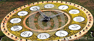 Flower clock in Kiev