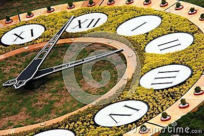 Flower clock in Kiev