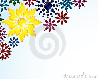 Flower Corner background