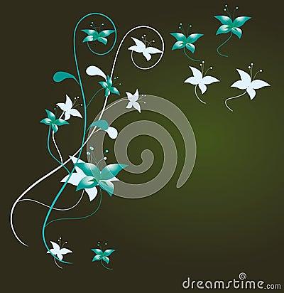 Flower decoration for the angular desig