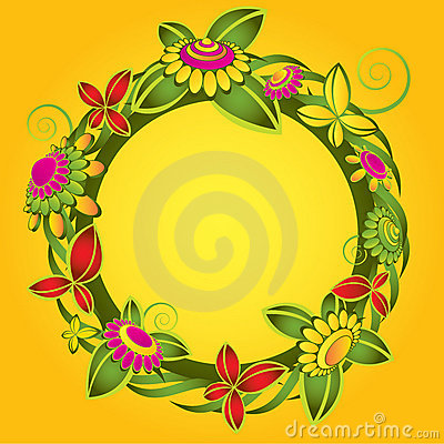 Flower decorative illustration