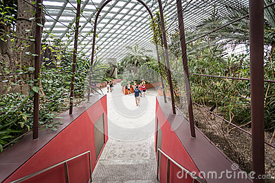 Flower Dome, Singapore Editorial Stock Image