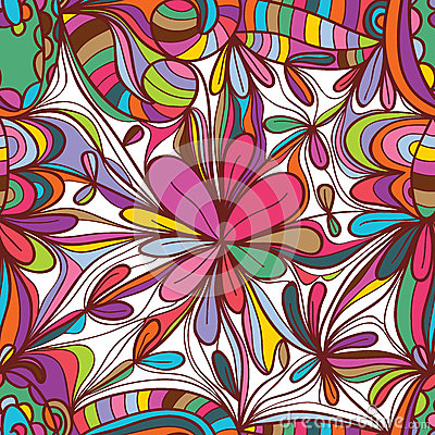 Free Flower Drawing Square Seamless Pattern Stock Photo - 56031600