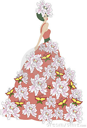 The flower dress