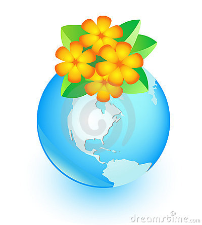 Flower and earth