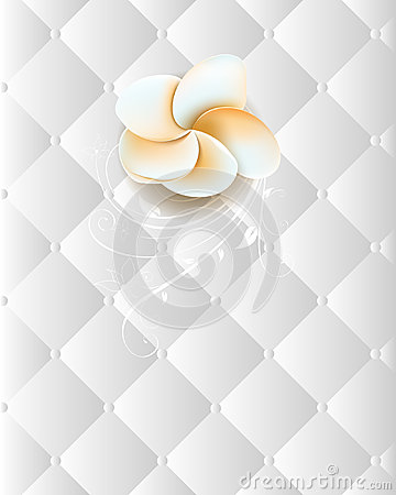 Flower on an elegant seamless chrome background