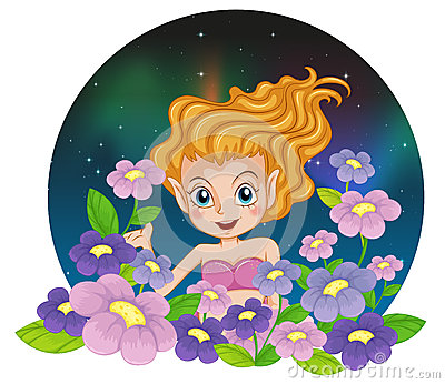 A flower fairy
