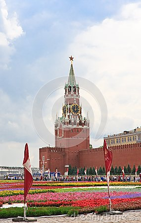 Flower Festival in Red Square. Moscow Editorial Photo