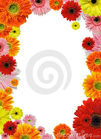 Free Flower Frame Royalty Free Stock Photography - 19032667