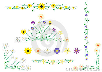Flower frame decor