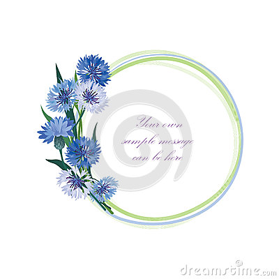 Free Flower Frame. Floral Border. Bouquet Cornflower Isolated. Stock Images - 36134474