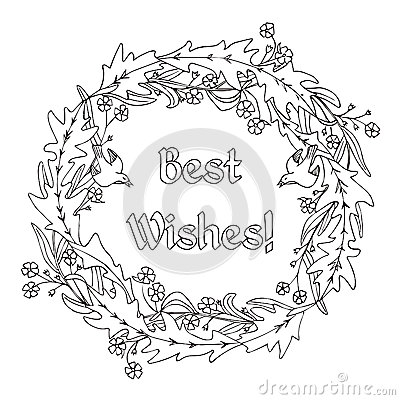 rose garland coloring pages - photo#3