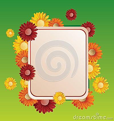 Free Flower Frame Vector Illustration Royalty Free Stock Photo - 13877915