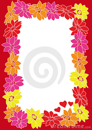 Free Flower Frame With Hearts Royalty Free Stock Photo - 4624845