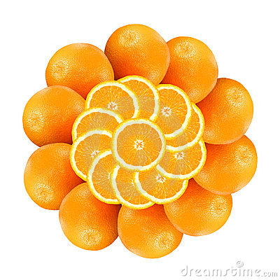 Free Flower From Oranges 1 Stock Images - 3767914