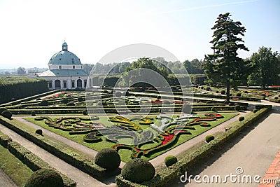 Flower garden, Kromeriz