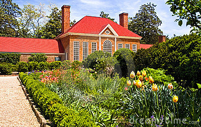 Flower garden and landscaping