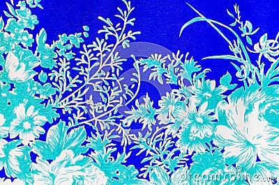 Flower garden paintings.