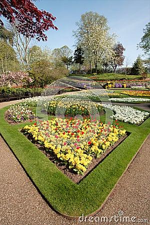 Flower Garden in Spring, England.