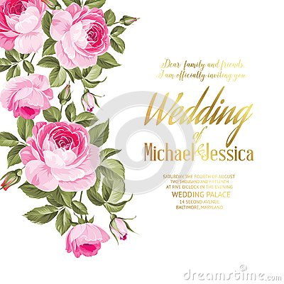 Free Flower Garland For Invitation Card. Royalty Free Stock Photos - 101915648
