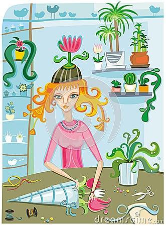 Free Flower Girl Stock Photography - 5188162