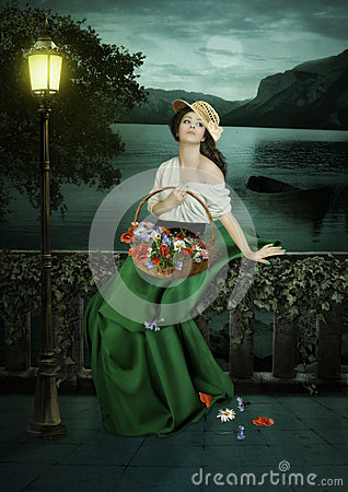 Free Flower-girl Royalty Free Stock Photography - 66513627