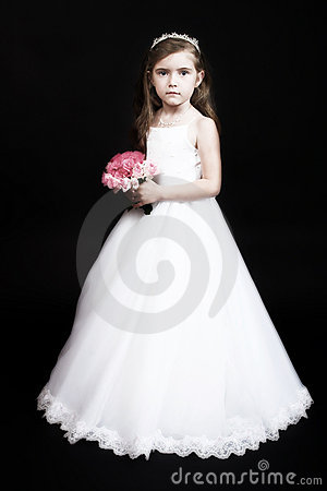 Free Flower Girl With Roses Royalty Free Stock Image - 820756
