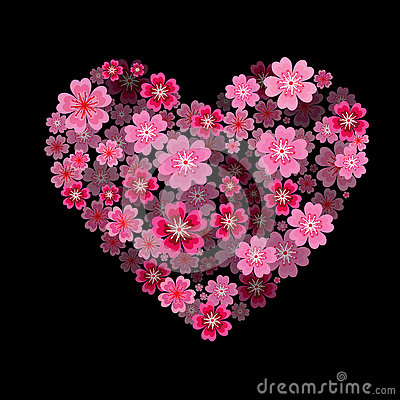 Free Flower Heart. I Love You - Heart With 3d Effect. Stock Photos - 72902243
