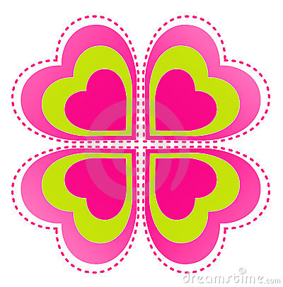 Flower and heart pattern