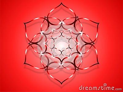 Flower heart-red