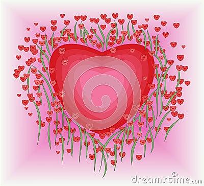 Flower in heart shape