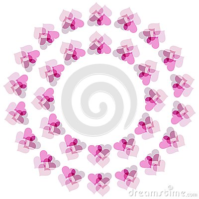 Flower of hearts pattern