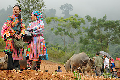 Flower Hmong Women Editorial Photography