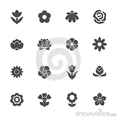 Free Flower Icon Set Stock Photos - 41868923