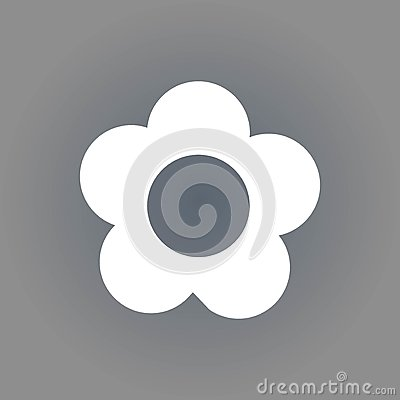 Flower icon stock vector illustration flat design Vector Illustration