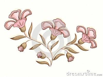 Flower Illustration in Pink